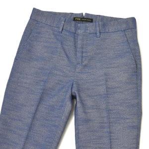 PT01 woman pants【ピーティーゼロウーノ】クロップドパンツ EF02 SOPHIE 0360 cotton polyester BLUE(ブルー)|cinqessentiel