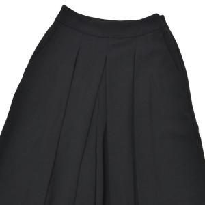 PT01 woman pants【ピーティーゼロウーノ】プリーツワイドパンツ PF03 GAIA 0990 polyester BLACK(ブラック)|cinqessentiel