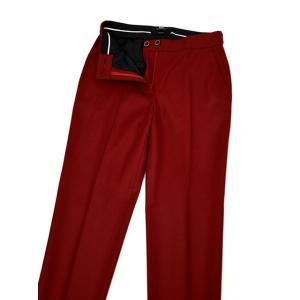 PT01 woman pants【ピーティーゼロウーノ】裾ダブル ベルトレスパンツ ANDOREA RG09 0650 ウール ナイロン レッド cinqessentiel 03