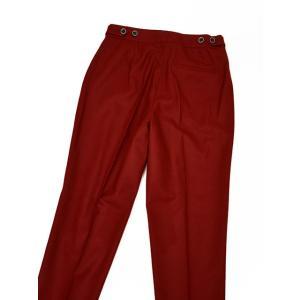 PT01 woman pants【ピーティーゼロウーノ】裾ダブル ベルトレスパンツ ANDOREA RG09 0650 ウール ナイロン レッド cinqessentiel 04
