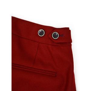 PT01 woman pants【ピーティーゼロウーノ】裾ダブル ベルトレスパンツ ANDOREA RG09 0650 ウール ナイロン レッド cinqessentiel 05
