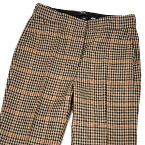 PT01 woman pants【ピーティーゼロウーノ】裾ダブル ベルトレスパンツ ANDOREA BT40 0060 ウール ポリエステル ベージュ オレンジ|cinqessentiel