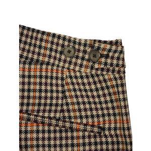 PT01 woman pants【ピーティーゼロウーノ】裾ダブル ベルトレスパンツ ANDOREA BT40 0060 ウール ポリエステル ベージュ オレンジ cinqessentiel 05