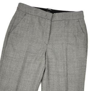 PT01 woman pants【ピーティーゼロウーノ】裾ダブル ベルトレスパンツ ANDOREA QG01 0230 ウール グレー|cinqessentiel