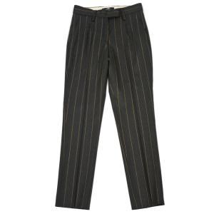 PT01 woman pants【ピーティーゼロウーノ】9分丈ストライプパンツ HOLLY CM05 0180 ウール チャコールグレー|cinqessentiel