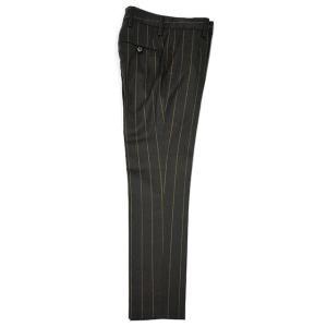 PT01 woman pants【ピーティーゼロウーノ】9分丈ストライプパンツ HOLLY CM05 0180 ウール チャコールグレー|cinqessentiel|05
