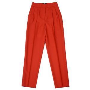 PT01 woman pants【ピーティーゼロウーノ】ツータックテーパードパンツ ALMA VB17 0650 ウール レッド|cinqessentiel