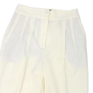 PT01 woman pants【ピーティーゼロウーノ】ツータックテーパードパンツ ALMA  VB17 0010 ウール ホワイト|cinqessentiel