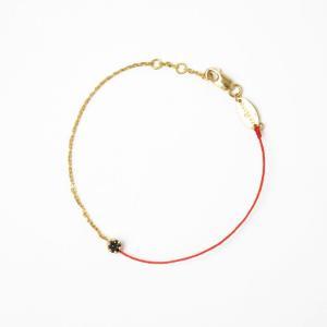red line【レッドライン】ブラックダイヤモンドブレスレット 20zn ILLUSION DOUBLE 0002 ROUGE/YG(レッド)