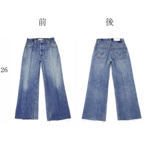 RE/DONE【リダン】Levi's ワイドカットオフデニム 1120WLC HIGH RISE WIDE LEG CROP INDIGO コットン ブルー cinqessentiel 13