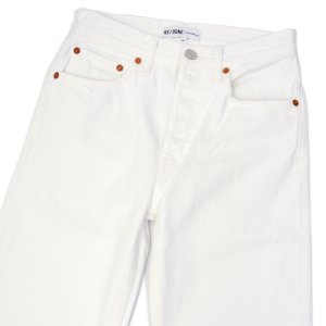 RE/DONE【リダン】ORIGINALS カットオフデニム 184-3WSTV27 HIGH RISE STOVE PIPE WHITE コットン ホワイト|cinqessentiel