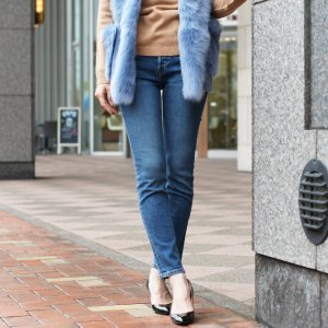 RE/DONE【リダン】ORIGINALS スキニーデニム 190-3WHRAC HIGH RISE ANKLE CROP STRETCH  MID70S コットン ミディアムブルー|cinqessentiel|07