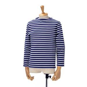 SAINT JAMES【セントジェームス】ボートネック長袖バスクシャツ ウエッソンOUESSANT MARINE/NEIGE(ネイビー/ホワイト)|cinqessentiel