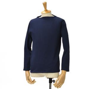 SAINT JAMES【セントジェームス】ボートネック長袖バスクシャツ ウエッソンOUESSANT NAVY(ネイビー )|cinqessentiel