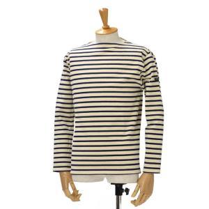 SAINT JAMES【セントジェームス】ボートネック長袖ボーダーバスクシャツ ウェッソン OUESSANT BORDER ECRU/MARINE(エクリュ/ネイビー)|cinqessentiel
