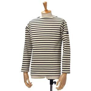 SAINT JAMES【セントジェームス】ボートネック長袖ボーダーバスクシャツ ウェッソン OUESSANT BORDER ECRU/NOIR(エクリュ/ブラック)|cinqessentiel