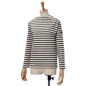 SAINT JAMES【セントジェームス】ボートネック長袖バスクシャツ ウエッソン OUESSAN ECRU NOIR(生成り/ブラック)|cinqessentiel