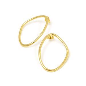 SOKO【ソコ】ピアス PETITE SABI OUTLINE STUDS SS17000301 brass ゴールド|cinqessentiel