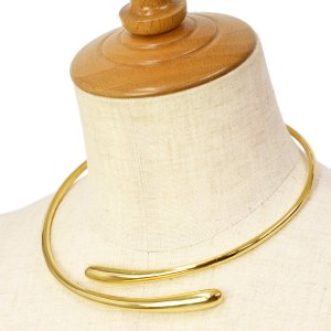 SOKO【ソコ】チョーカー  DASH HINGE WRAP CHOKER JN173013 brass ゴールド|cinqessentiel