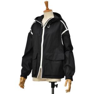 WOOLRICH【ウールリッチ】フーデッドショートジャケット CAMELIA SHORT JKT WWOU0218  100 BLACK  ナイロン ブラック cinqessentiel