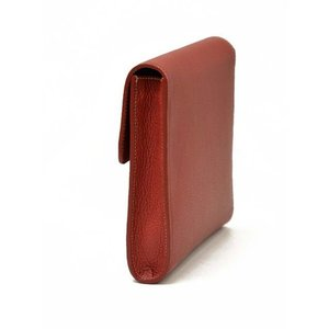ACATE【アカーテ】フラップクラッチバッグ A005 BREVA A70560 ROSSO ナチュラルシュリンクレザー レッド|cinqueclassico|03