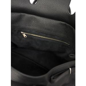 ACATE【アカーテ】別注 フラップ付きトートバック A017 OSTRO M/5 80 ナチュラルシュリンクレザー ブラック cinqueclassico 07