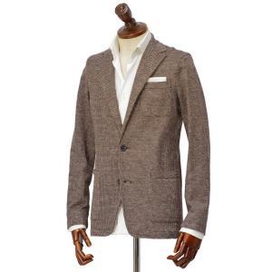 Altea【アルテア】シングルジャケット COPPER 1952306 38 コットン リネン ジャージ レッド×ブラウン×ホワイト|cinqueclassico
