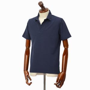 Altea【アルテア】スキッパーポロシャツ 1955103 1 コットン ピケ ネイビー|cinqueclassico