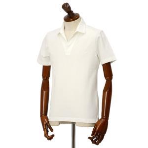 Altea【アルテア】スキッパーポロシャツ 1955103 29 コットン ピケ ホワイト|cinqueclassico