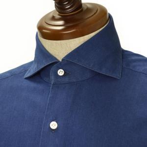 BARBA【バルバ】ドレスシャツ BRUNO I1U262519001U コットン ダンガリー インディゴ|cinqueclassico