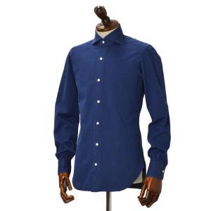 BARBA【バルバ】ドレスシャツ BRUNO I1U262519001U コットン ダンガリー インディゴ|cinqueclassico|02