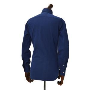BARBA【バルバ】ドレスシャツ BRUNO I1U262519001U コットン ダンガリー インディゴ|cinqueclassico|03