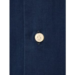 BARBA【バルバ】ドレスシャツ BRUNO I1U262519001U コットン ダンガリー インディゴ|cinqueclassico|04