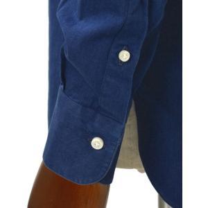 BARBA【バルバ】ドレスシャツ BRUNO I1U262519001U コットン ダンガリー インディゴ|cinqueclassico|05