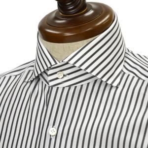 BARBA【バルバ】ドレスシャツ BRUNO I1U262U00842R コットン ストライプ ブラック×ホワイト|cinqueclassico
