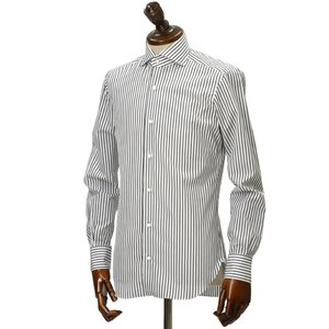BARBA【バルバ】ドレスシャツ BRUNO I1U262U00842R コットン ストライプ ブラック×ホワイト|cinqueclassico|02