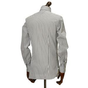 BARBA【バルバ】ドレスシャツ BRUNO I1U262U00842R コットン ストライプ ブラック×ホワイト|cinqueclassico|03