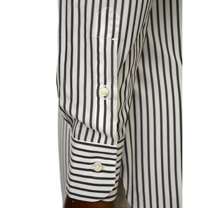 BARBA【バルバ】ドレスシャツ BRUNO I1U262U00842R コットン ストライプ ブラック×ホワイト|cinqueclassico|04