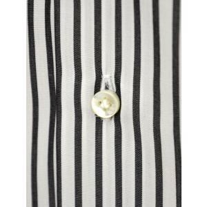 BARBA【バルバ】ドレスシャツ BRUNO I1U262U00842R コットン ストライプ ブラック×ホワイト|cinqueclassico|05