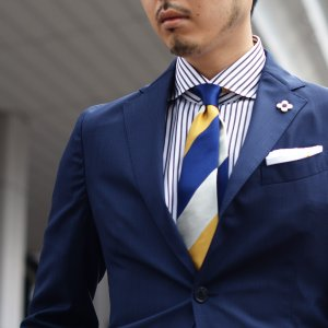 BARBA【バルバ】ドレスシャツ BRUNO I1U262U00842R コットン ストライプ ブラック×ホワイト|cinqueclassico|09