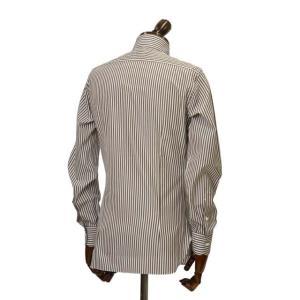 BARBA【バルバ】ドレスシャツ BRUNO I1U262U01659R コットン ロンドンストライプ ブラウン×ホワイト|cinqueclassico|03