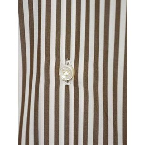 BARBA【バルバ】ドレスシャツ BRUNO I1U262U01659R コットン ロンドンストライプ ブラウン×ホワイト|cinqueclassico|04