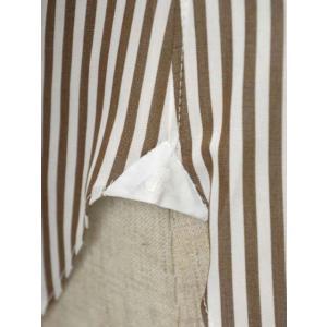 BARBA【バルバ】ドレスシャツ BRUNO I1U262U01659R コットン ロンドンストライプ ブラウン×ホワイト|cinqueclassico|05