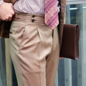 BARBA【バルバ】ドレスシャツ BRUNO I1U262U01659R コットン ロンドンストライプ ブラウン×ホワイト|cinqueclassico|08