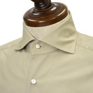 BARBA【バルバ】ドレスシャツ BRUNO I1U262U02004U コットン ベージュ cinqueclassico