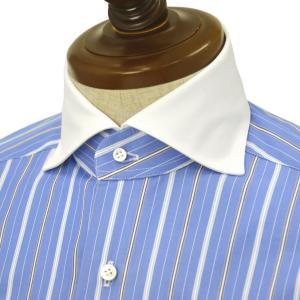 BARBA【バルバ】ドレスシャツ BRUNO I1U262U04004R コットン クレリックストライプ ブルー×ホワイト cinqueclassico