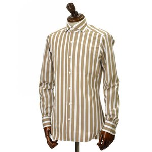 BARBA【バルバ】ドレスシャツ BRUNO I1U262U05231R コットン ストライプ ベージュ×ホワイト cinqueclassico 02