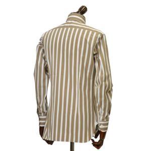 BARBA【バルバ】ドレスシャツ BRUNO I1U262U05231R コットン ストライプ ベージュ×ホワイト cinqueclassico 03