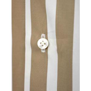 BARBA【バルバ】ドレスシャツ BRUNO I1U262U05231R コットン ストライプ ベージュ×ホワイト cinqueclassico 04