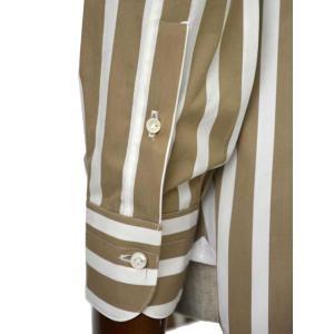 BARBA【バルバ】ドレスシャツ BRUNO I1U262U05231R コットン ストライプ ベージュ×ホワイト cinqueclassico 06